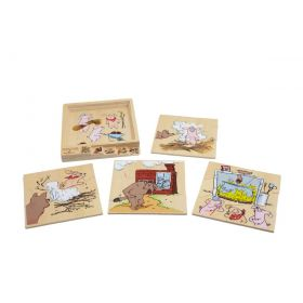 Layered Story Puzzle - 3 Little Pigs