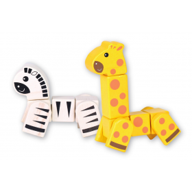 Snap Blocks: Giraffe and Zebra