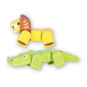 Snap Blocks: Lion and Croc