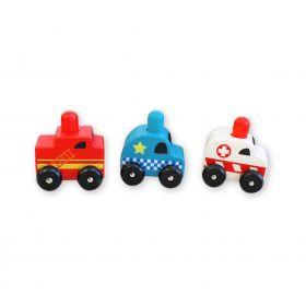 Squeaker Emergency Cars (Set of 3)